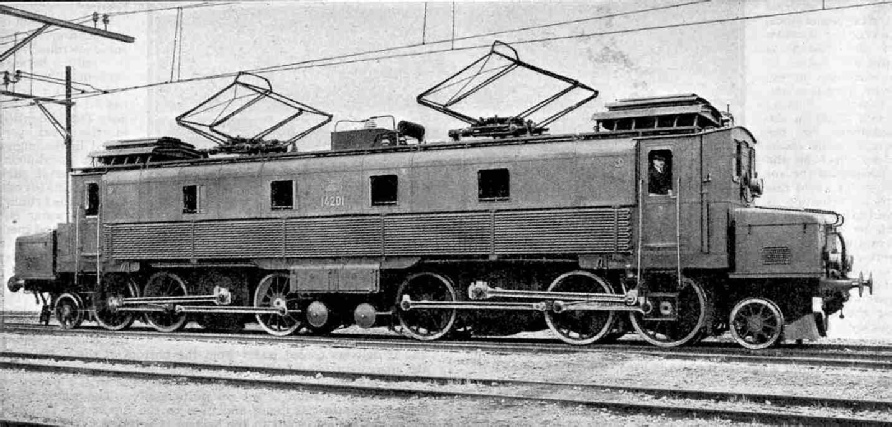 An Electric Locomotive of the Swiss Federal Railways