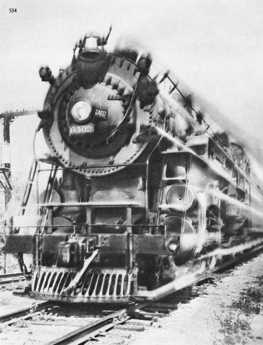 "Rivalling the ""Cheltenham Flyer"", engine 6402 of the Chicago, Milwaukee, St Paul & Pacific Railroad"