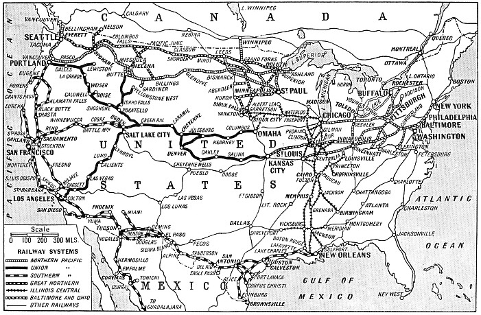 Principal railway systems of the USA