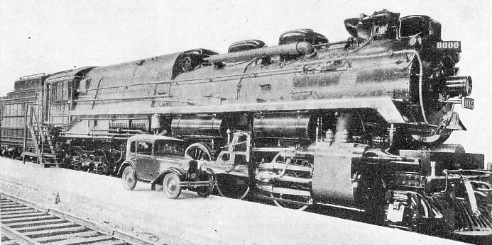 A giant super-pressure locomotive No 8000 of the Canadian Pacific Railway