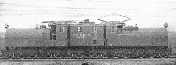 International General Electric gearless locomotive with 28 wheels, used for hauling the Chicago, Milwaukee and St. Paul's Railway expresses over the Cascade Mountain division