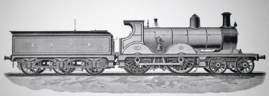 GREAT NORTH OF SCOTLAND RAILWAY No. 81. DESIGNED BY JAMES JOHNSON