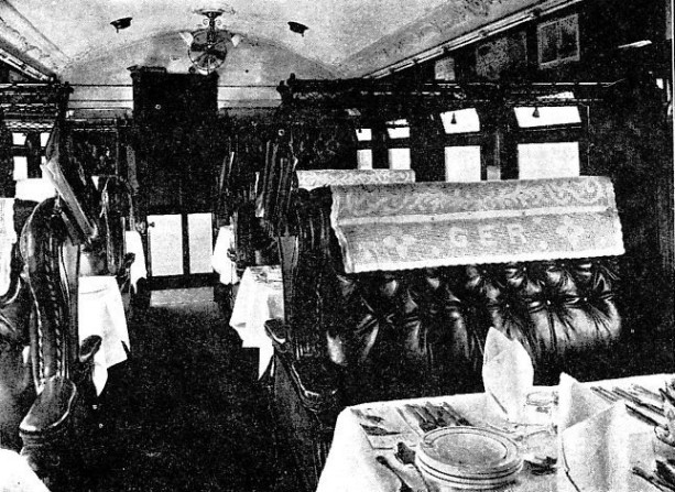 First-class Dining Saloon on the Cromer Express, Great Eastern Railway