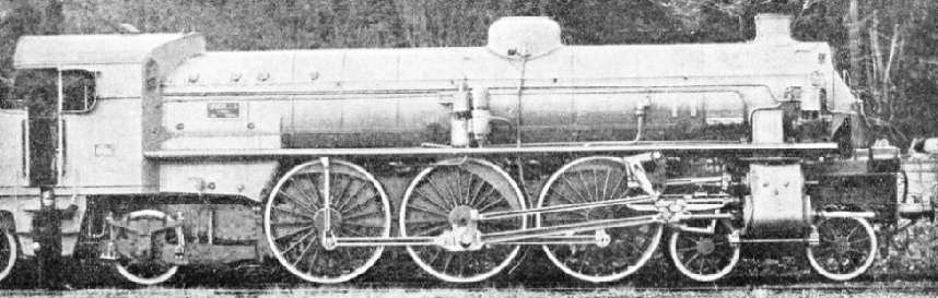 "AN ITALIAN ""PACIFIC"" locomotive built for express services"