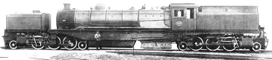 "This ""Union-Garratt"" articulated locomotive was supplied by Messrs Maffei, Munich, to the South African Railways in 1927"