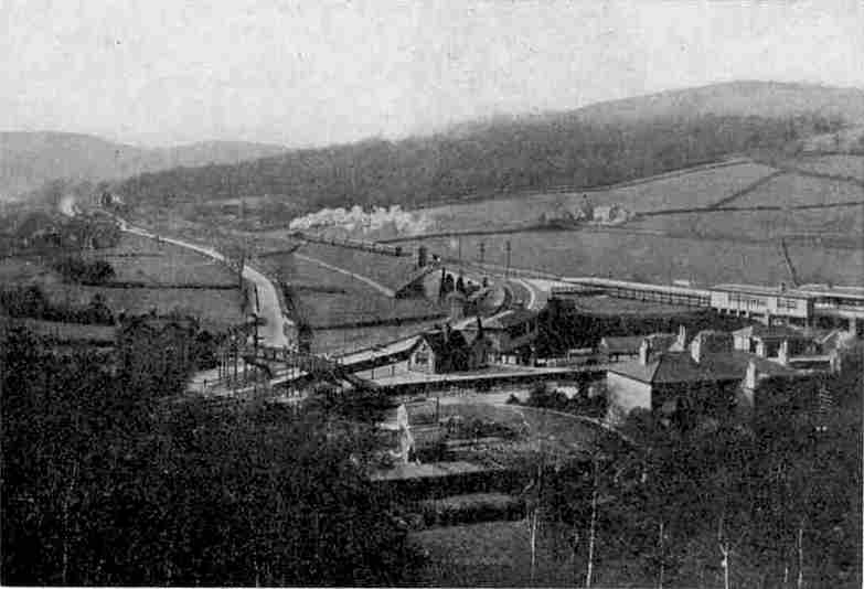 A striking view of the triangular station at Ambergate