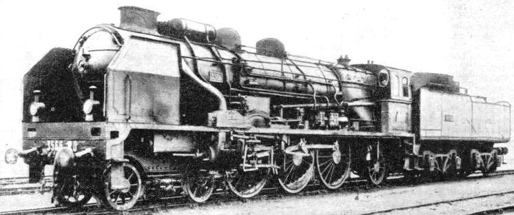 "A REBUILT LOCOMOTIVE of the ""Pacific"" type on the Paris-Orleans Railway of France"