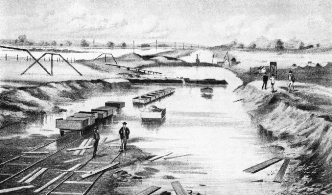 The flood at the Severn Tunnel, 17 October 1883