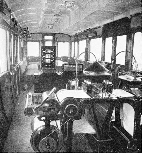 inside the dynamometer car