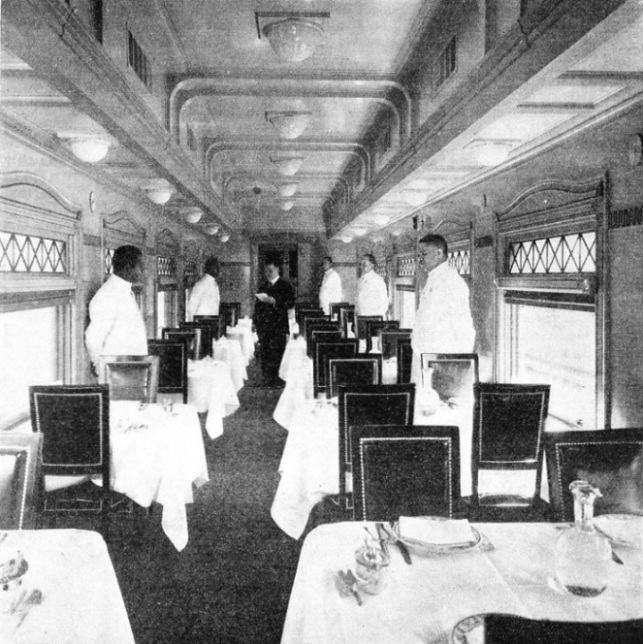 "THE FIRST AIR-CONDITIONED DINING-CAR in the West was that of the Santa Fé ""Chief"""