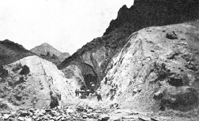GREAT DIFFICULTIES were experienced by the railway engineers in driving a way through the Amanus Mountains
