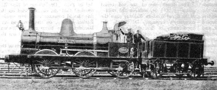 A Lancashire and Yorkshire Railway 0-6-0 built in 1867