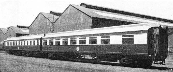"THE NEW TWIN DINING-CAR ""PROTEA"" built for the South African Railways"