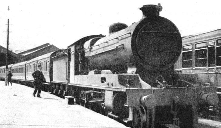 "THE ""ROYAL HIGHLANDER"", the famous LMS night express at Inverness"