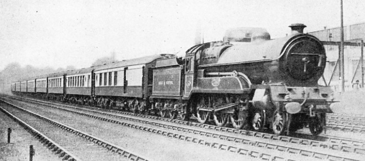 "A Great Central Engine hauling the ""Harrogate Pullman"""