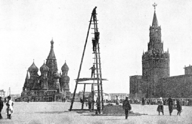 MAKING A TEST BORE in the Red Square, Moscow