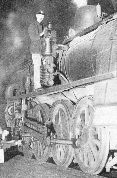 A NEW ZEALAND LOCOMOTIVE with a brake air-pump on the running board