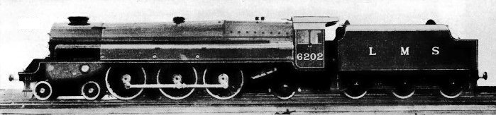 4-6-2 turbomotive of the LMS no 6202
