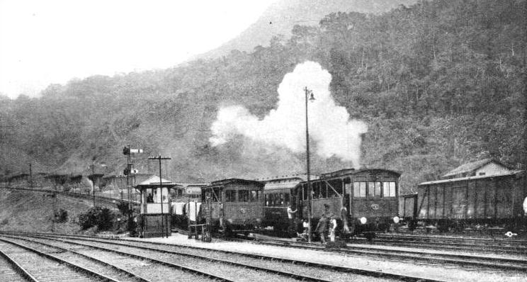 AT THE FOOT OF THE INCLINES up which trains on the São Paulo Railway are hauled by endless ropes