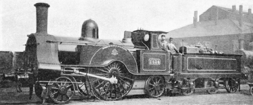 A Ramsbottom 2-2-2 after its reconstruction and the addition of a cab