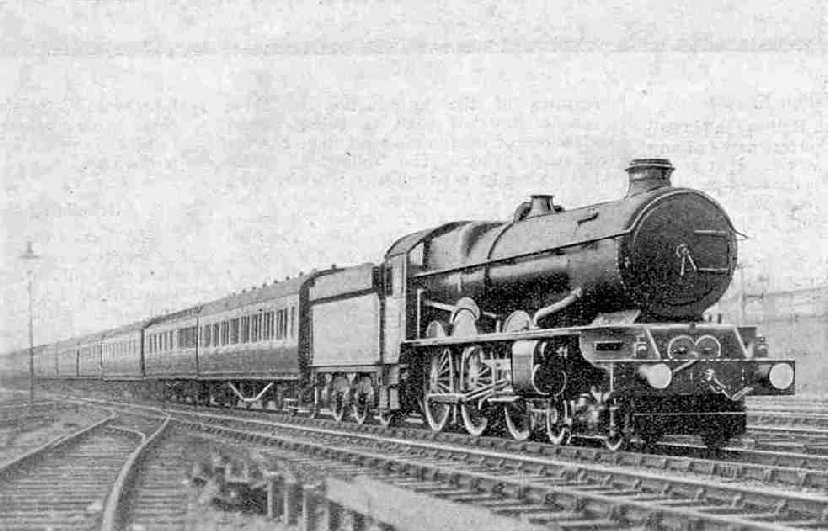 4-6-0 locomotive, No. 6005 King George II hauling the up Torbay Limited