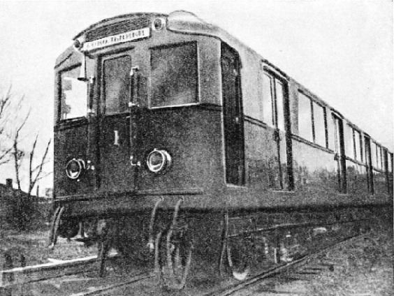THE FIRST TRAIN to run on the Moscow underground railway