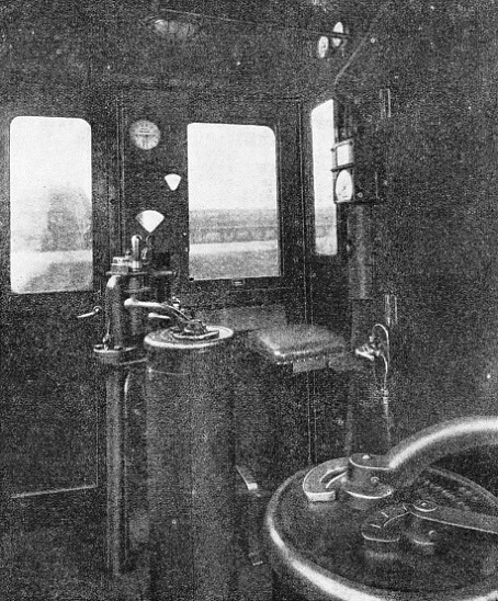 THE DRIVER'S CONTROL in the cab of a Diesel Electric locomotive