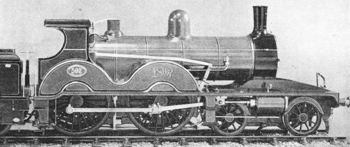An express locomotive of 1892 designed by W Adams
