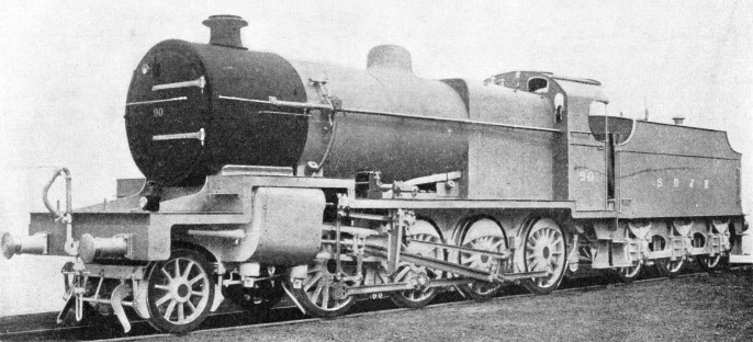 2-8-0 goods engine operating on the SDJR