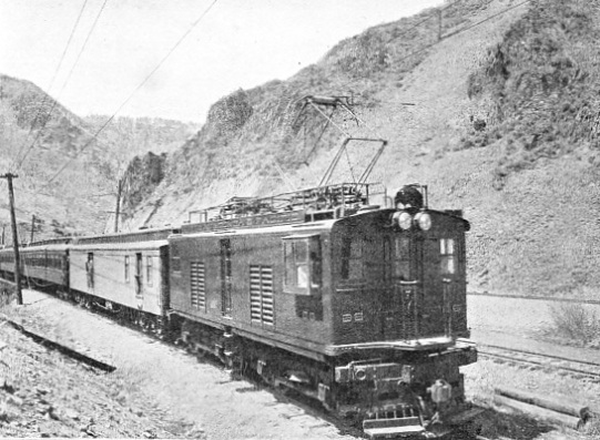 STANDARD PASSENGER TRAIN ON THE BUTTE, ANACONDA AND PACIFIC RAILWAY