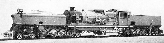 THE LATEST TYPE of articulated engine as used on the Kenya and Uganda Railway