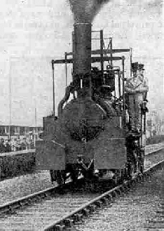 The Hetton Colliery Locomotive (built 1822) which led the procession