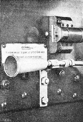 THE HOOTER in the cab of an engine fitted with the Strowger-Hudd apparatus