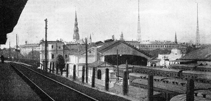 RIGA STATION, IN LATVIA, where there is a change of gauge
