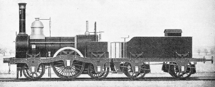 AN EARLY LOCOMOTIVE, which ran on London's first railway from London to Greenwich