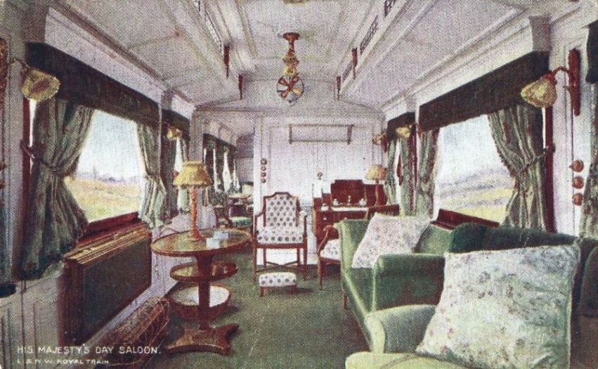 Inside the King's Carriage, London & North Western Railway