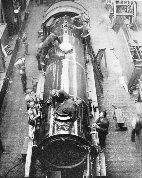 Preparing a locomotive for the road at Eastleigh Works