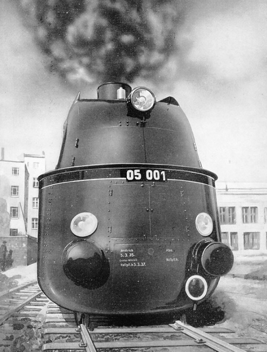 New German streamlined locomotive