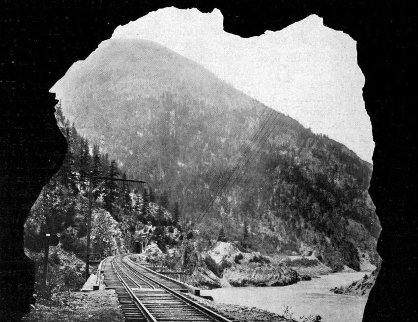HOW THE CPR MARKS ITS WAY THROUGH THE FRASER CANYON