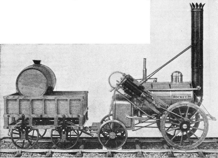 "The ""Rocket"", entered by the Stephensons for the Rainhill Trials"