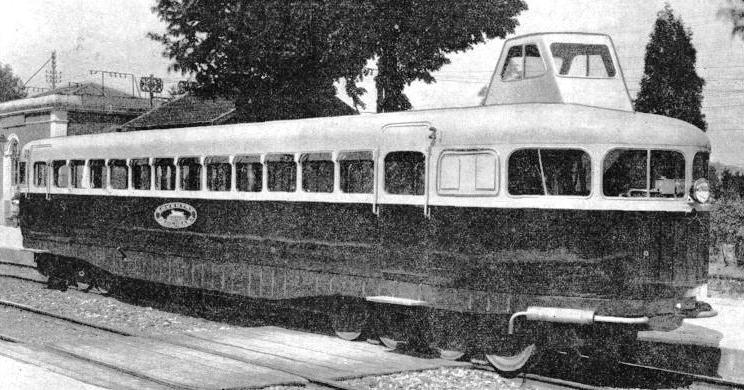 EXTERIOR view of the Coventry Pneumatic Rail-car