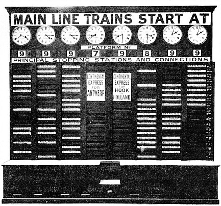 The Train Indicator at Liverpool Street, Great Eastern Railway