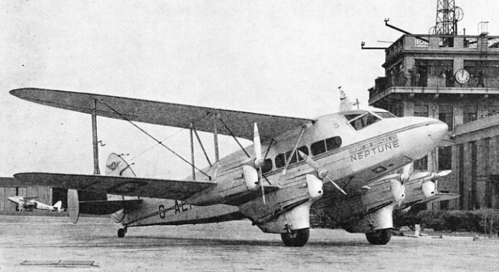 One of the biplanes used on the London-Belfast Glasgow and other routes of Railway Air Services