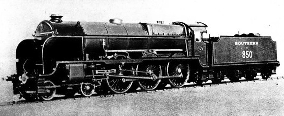 LORD NELSON, a Southern Railway 4-6-0 express locomotive