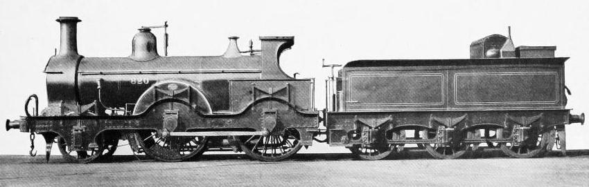 LOCOMOTIVE NO. 820, REMARKABLE FOR ITS HEAVY OUTSIDE FRAME