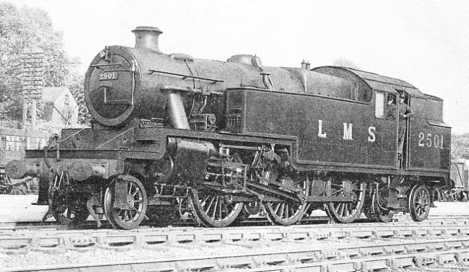 one of the latest LMS tank engines, a 2-6-4 (Taper boiler 3-cylinder type), built at Derby works in 1934
