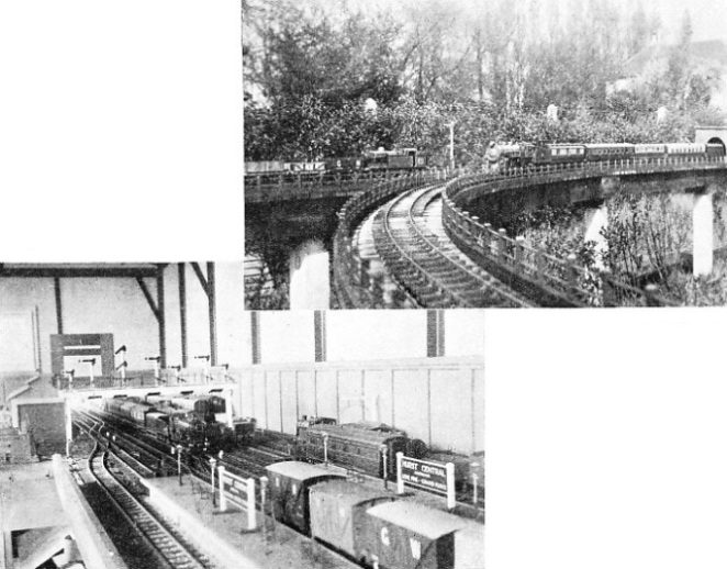 THE CENTRAL STATION and one of the junctions on Mr. V. B. Harrison's railway