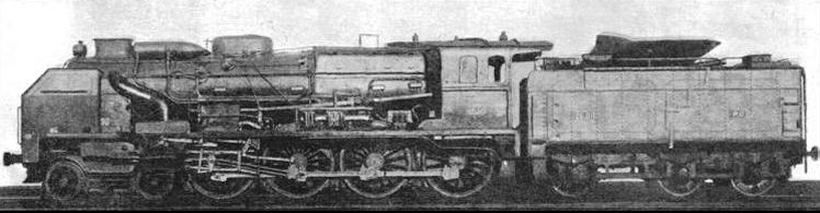 "4-8-0 locomotives of the type illustrated were converted by the Paris-Orleans Railway from an earlier type of ""Pacific"""