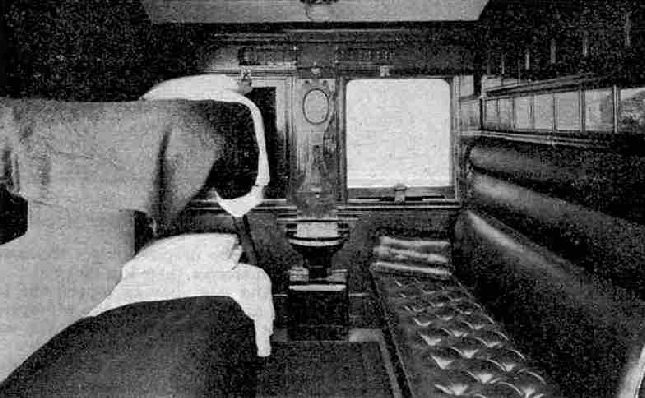 First-Class compartment of the Union Express