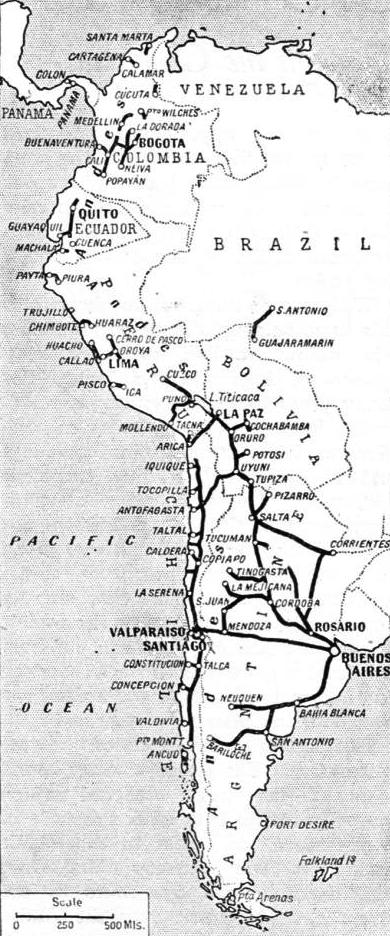 THE RAILWAYS OF SOUTH AMERICA